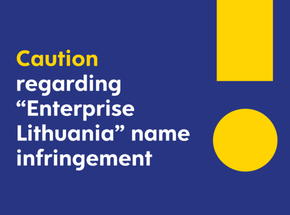 "Caution regarding ""Enterprise Lithuania"" name infringement"